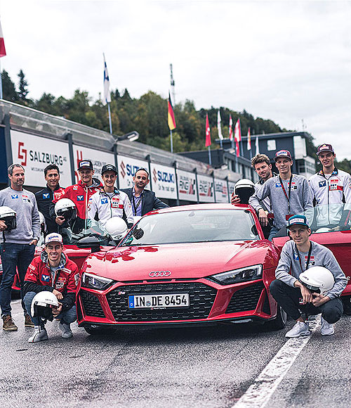 Boxenstopp bei der Audi track experience am Salzburgring
